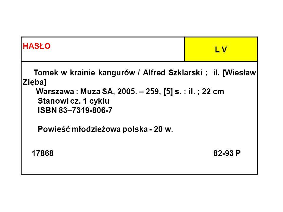 Warszawa : Muza SA, 2005. – 259, [5] s. : il. ; 22 cm